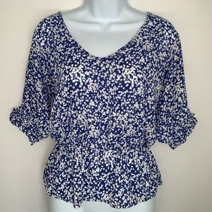 Blue and white lightweight top Sienna Sky